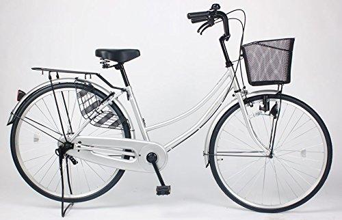 21Technology 【MC260-N】ママチャリ 自転車 26インチ B01N2B5W7M シルバー シルバー