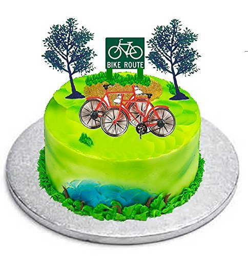Price comparison product image Cakesupplyshop B9781- Bicycle(bike) Cycling Cake Topper