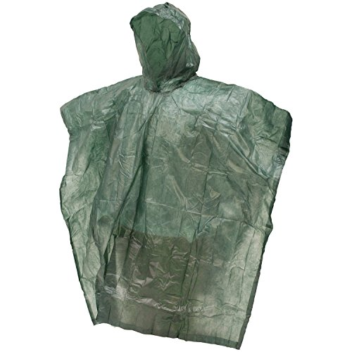 Frogg Toggs Emergency Poncho, Green, One Size