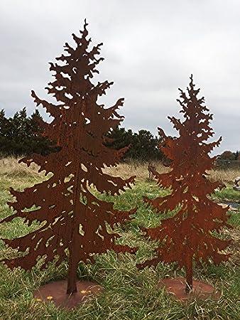 Tannenbaum Edelrost.Tanne 1 75m Gartenstecker Weihnachtsbaum Tannenbaum Christbaum Rost