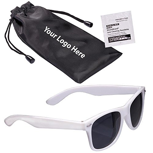Fashion Sunglasses & Lens Cleaning Wipe In A Pouch - 100 Quantity - $3.25 Each - PROMOTIONAL PRODUCT / BULK / Branded with YOUR LOGO / - Sunglasses Custom Bag Logo