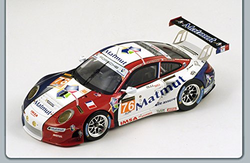 Porsche 997 GT3 RSR #76 LM 2013 Winner LM GTE AM Class C.Bourret/R.Narac/J-K Vernay 1/18 by Spark 18S103 This items does not have any openings.Made of resin.