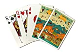 Rocky Mountain National Park, Colorado - Geometric (Playing Card Deck - 52 Card Poker Size with Jokers)