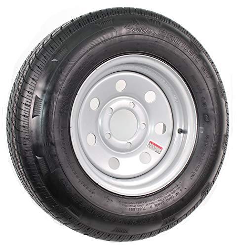 eCustomrim Radial Trailer Tire and Rim ST185/80R13 13X4.5 5-4.5 Silver Modular