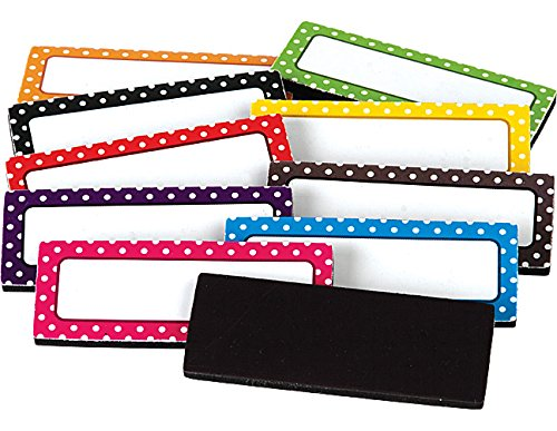 teacher classroom organization polka dot magnetic labels