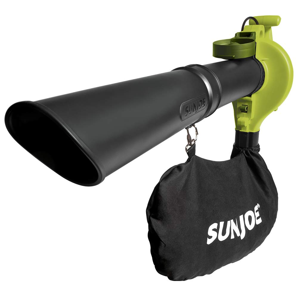 Sun Joe SBJ603E 13-Amp 240 MPH 3-in-1 Electric Blower/Mulcher/Vacuum, Green