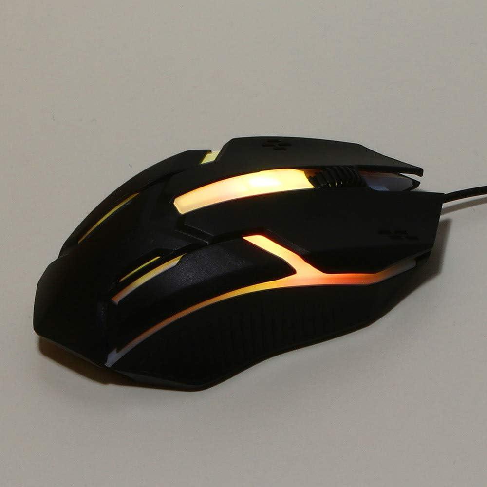 USB Mouse for Windows PC Gamer I613 Gaming Mouse Wired,Ergonomic LED Backlit USB Gamer Mice Computer Laptop PC,1200DPI,Breathing Light,omputer Mouse for Laptop