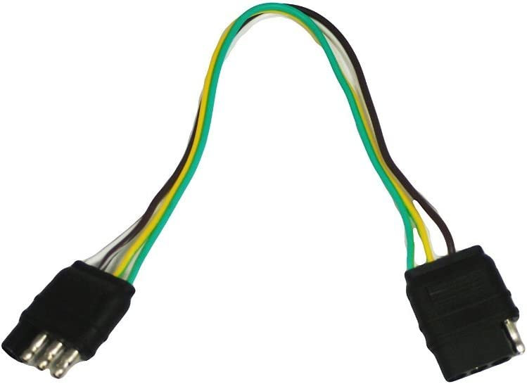 Amazon.com: ABN Trailer Wire Extension, 1ft, 4-Way 4-Pin Plug Flat 20 Gauge  – Hitch Light Trailer Wiring Harness Extender: AutomotiveAmazon.com