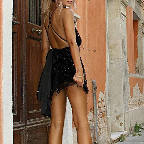 Negro Falda Rockabilly Dress Vintage Party Profundo Mujer Minivestido Ropa Fiesta Ashop Vestidos En V Lentejuela De Borlas 2019 Oferta Cuello Verano Casual 1pfUqSw
