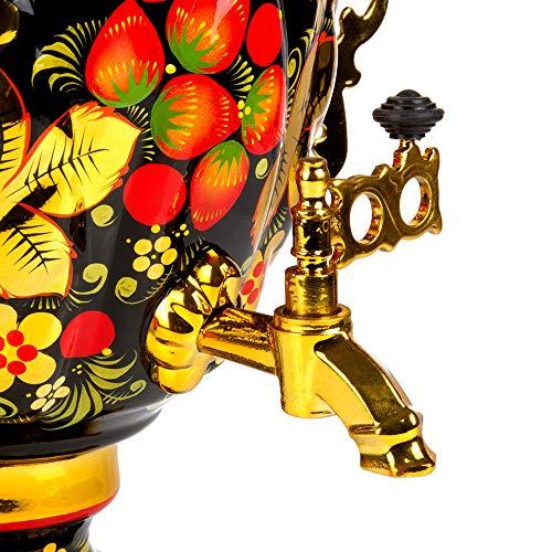 Khokhloma Electric Samovar Set with Tray & Teapot Russian Samovar Tea Maker by Tula (Image #8)