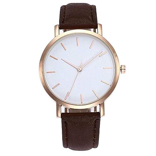 Scpink Relojes de Cuarzo para Mujer Ladies Teen Girls Fashion Minimalista Casual Reloj de Pulsera de aleación analógica de Cuarzo Redondo de Oro Rosa ...