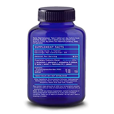 LoveBug Probiotics - Here's The Skinny - Multi-Strain Probiotic Supplement for Digestive Health. 10 Billion CFU, Delayed Release, Gluten Free Tablet. 30 Day Supply
