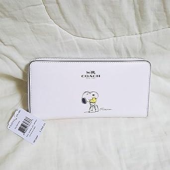 aec22e024c8f Amazon | コーチ COACH × スヌーピー コラボ 長財布 F53773 白 ホワイト | COACH(コーチ) | 財布