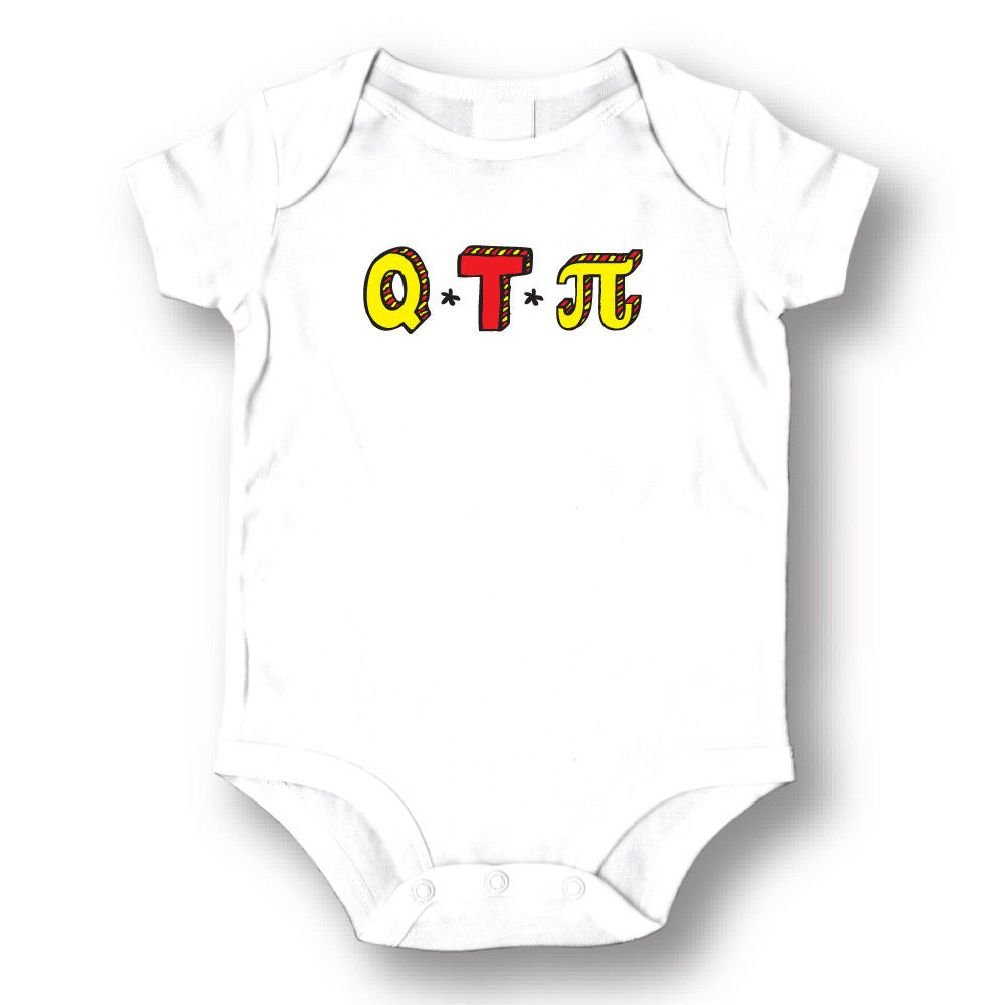 Dustin clothing series Q T Pie Baby Boys Girls Toddlers Funny Romper 0-24M