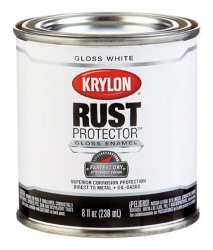 Krylon Paint Oil Base Gloss White 1/2 Pt 8 Oz