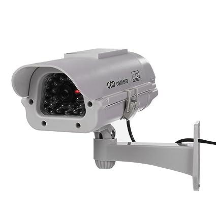 Camara falsa - TOOGOO(R)Camara falsa de seguridad somulada de CCTV de alimentacion