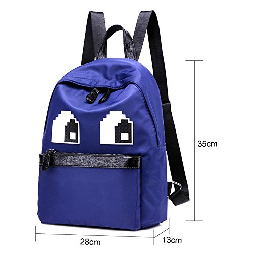 Young & Ming - Grandes Unisex Mujeres Hombre Impermeable Nylon Bolsos mochila Backpack Bolso Handbag azul