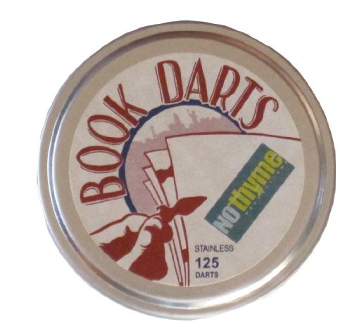Book Darts Line Markers 125 Count Tin Stainless Steel
