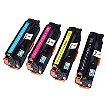 Ink & Toner 4 You ® Compatible Laser Toner Cartridge Set for HP CF380A Black, CF381A Cyan, CF383A Magenta, CF382A Yellow (312A) Works With HP Color LaserJet MFP M476dw, Color LaserJet MFP M476dn, Color LaserJet MFP M476nw