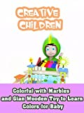 Colorful with Marbles and Gian Wooden Toy to Learn Colors for Baby