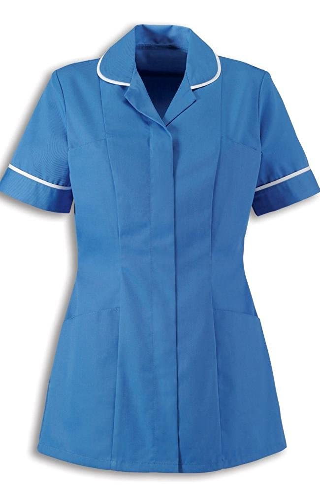 Alexandra Traditional Ladies Women Nursing Tunics NHS Health Medical Care (16, Hospital Blue/White)