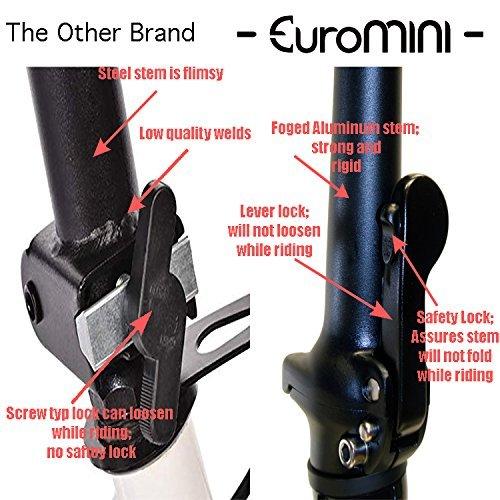 "EuroMini Via 20"" Folding Bike-Lightweight Aluminum Frame Genuine Shimano 7-speed 26lb by EuroMini (Image #6)"