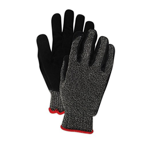 Magid Glove & Safety XKS200LEA9 Magid Cut Master XKS XKS200LEA Medium Weight Leather Palm Gloves - Cut Level 4, 7, Black , 9 (Pack of 12) by Magid Glove & Safety (Image #3)