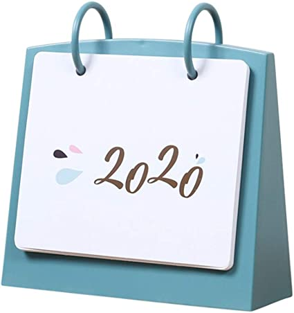 NUOBESTY Calendrier de Bureau Quotidien Calendrier de Bureau 2020