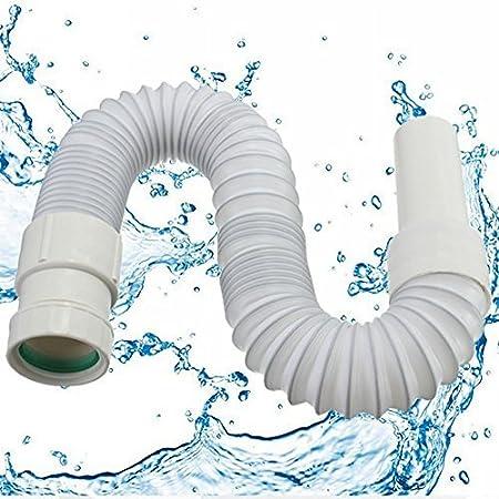 ungfu Mall 40mm de diámetro flexible manguera de conector Tubo Elástico Tubo de agua para baño lavabo escurridor para inodoro
