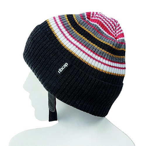 The All New Premium Original Ribcap - Iggy Beanie Cap (Large, Stripy) by Ribcap