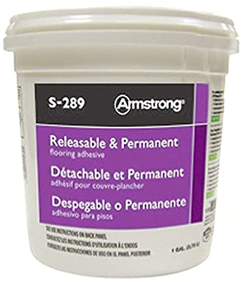Armstrong Releasable & Permanent Flooring Adhesive S-289 1 Gallon