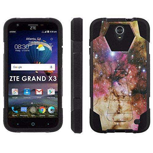 ZTE Uhura Grand X3 Z959 [Warp 7] Phone Cover, Galaxy – Black Hexo Hybrid Armor Phone Case for ZTE Uhura Grand X3 Z959 [Warp 7]