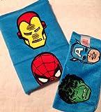 Marvel Heroes Bath 2 Pc Wash Set Towel and Wash Cloth Spiderman Hulk
