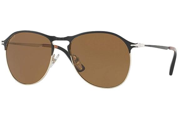 8a5b908fda9 Amazon.com  Persol PO7649S Sunglasses Matte Black Gold w Polarized ...