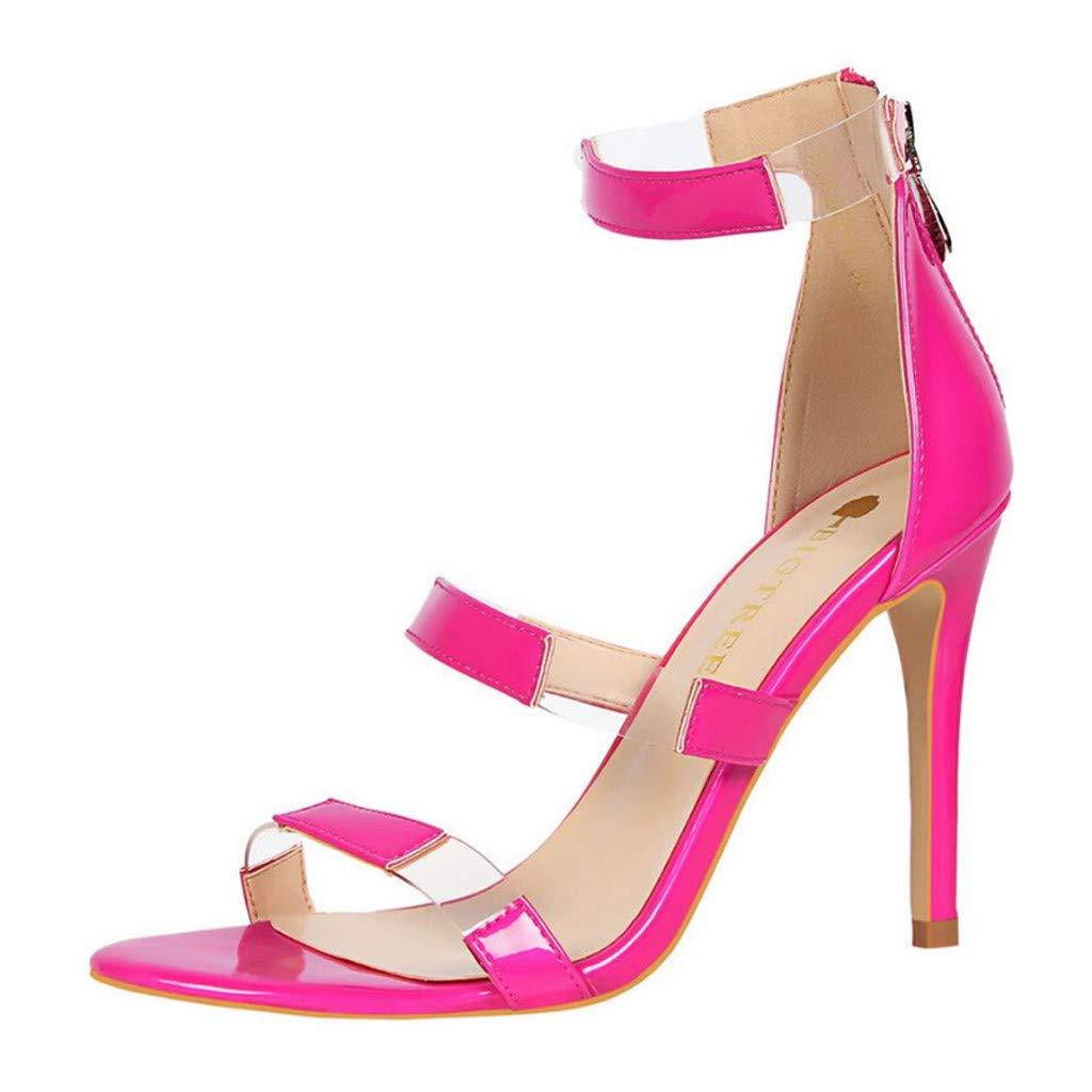 759f79bd5785e Amazon.com: Claystyle Women's High Stiletto Pump Heel Sandals Clear ...