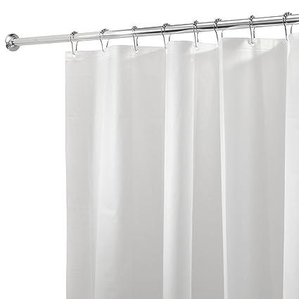 Cortina ba/ñera Cortina de ba/ño libre de PVC con 12 agujeros reforzados blanco mDesign Juego de 2 Cortinas ducha de PEVA
