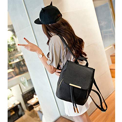 Amazon.com: Backpack Women Pu Leather Backpacks Teenager ...