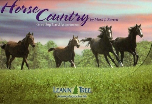 (Horse Country [AST90740] Greeting Card Assortment by Leanin' Tree - 20 cards with full-color interiors and 22 designed envelopes)