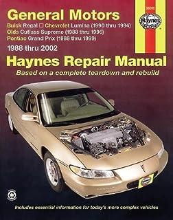 haynes repair manual general motors buick regal 88 05 chevrolet rh amazon com 2002 buick regal repair manual pdf 2003 Buick Regal