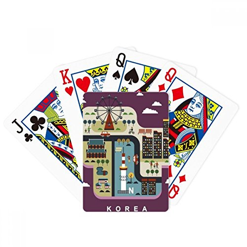 beatChong South Korea Landmarks Leisure Poker Playing Card Tabletop Board Game Gift by beatChong