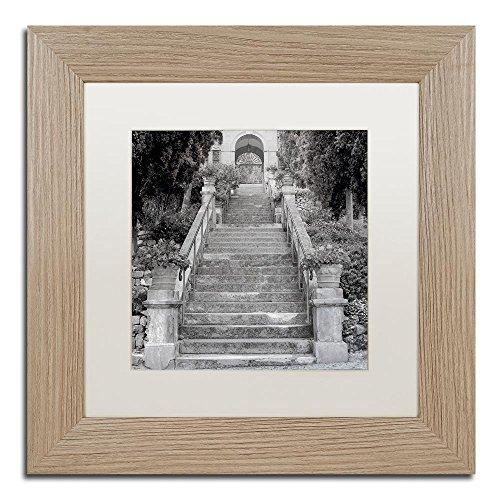 Montreux Swivel - Liguria II by Alan Blaustein, White Matte, Birch Frame 11x11-Inch