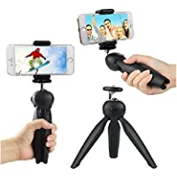 MEJON INDIA 360 Degree Mini Tripod Universal Mount & Phone Holder Tripod Stand Compatible with All Mobile Phones and Digital Camera