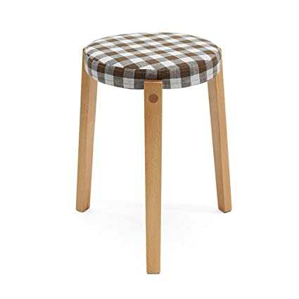 Brilliant Amazon Com Round Padded Ottoman Stool Footrest Shoe Bench Caraccident5 Cool Chair Designs And Ideas Caraccident5Info