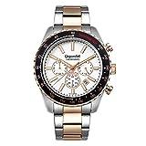 Gigandet Men's Quartz Watch Chrono King Chronograph Analogue Silver Rosegold G28-009
