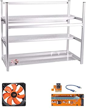 AAAwave Stackable Mining Frame with Fan Fixing Parts 12 GPU Computer Case