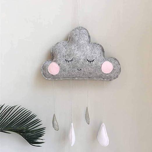 Maritown Wolke Regentropfen H/ängen Anh/änger Kindergarten Schlafzimmer Wand Fenstert/önung Krippen Betten Decke Garland Dekoration f/ür Baby Kinder Kinder