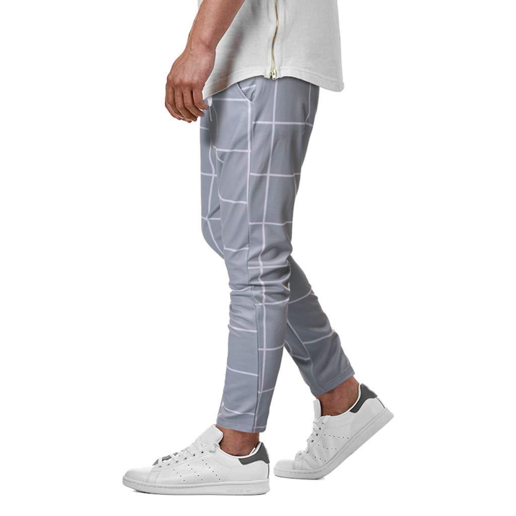 AMUSTER Pantaloncini Pantaloni Uomo Cotone Palestra Jeans Lavoro Lino Estivi Plaid Casual Moda Tinta Unita Giovanile