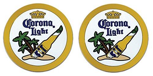 Corona Light 2 Rubber Bar Coasters Spill Mat Mini Bar ()