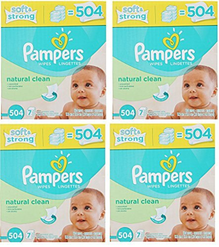 Pampers Natural Clean Wipes 28x Box zFaWLl, 504 Wipes