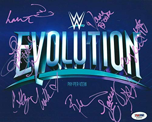Brie Bella Dana Brooke Lana Mickie James +5 Signed 8x10 Photo *WWE Divas - PSA/DNA Certified - Autographed Wrestling Photos